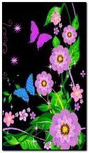 زهرة وفراشات