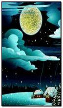 magiczna zimowa noc