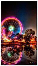 Neon roundabout
