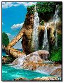Exotic waterfall.