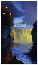 thác nước vào mùa thu