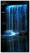 waterfall blue