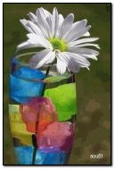 एक फुलदाणी मध्ये फुलं
