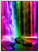 colorfull waterfall