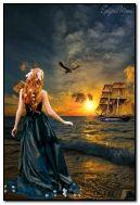 หญิงสาวในทะเล