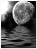 Moon and sea animated