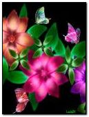 Colourful butterflies and flowers 2