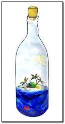 musim panas dalam botol