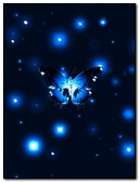 Abst Blue Butterfly