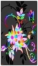 Neon Çiçekler