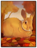 Bunny In The Autumn Forest