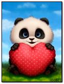 Little Panda With A Heart