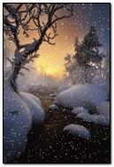 سقوط الثلج