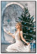 크리스마스 트리에서 촛불로 요정