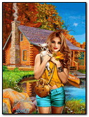 The Girl With The Dog At Autumn House