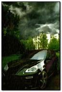 Auto und Regen