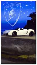 Белый Lamborghini