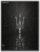 Logotipo Maserati Cuero