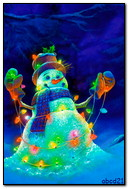 与发光的诗歌选的雪人