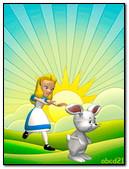 Girl Running Over A Rabbit