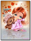 Small Girl With Teddy