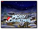 Merry Christmas Greating Cards Postcards