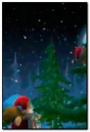 与心脏的圣诞老人玩具熊