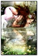 الفتاة والماء