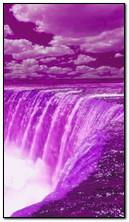 lila Wasserfall