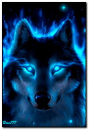 Неоновый волк