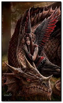 Engel mit Drachen