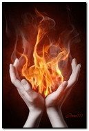The Fire In His Hands