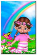 Девушка и радуга