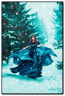 La fille dans la forêt
