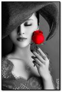 Dame à la rose