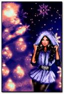 La fille à l'arbre de Noël