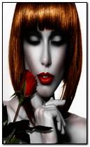 Beauté avec rose