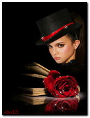 Ledy Book And Rose