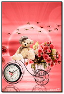 Gift Roses On Decorativ Velocippede Watch The Bear And The Sea