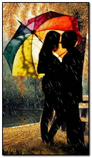 miłość w deszczu