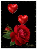Valentineday Red Rose And Red Heart