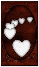 Белые сердца