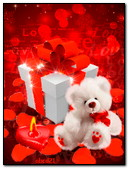 Valentine Teddy Bear And Gift