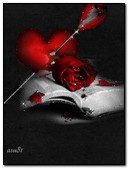 Heart And Rose On Book
