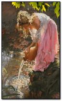 Su ile kız