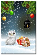Owl Gifts Under The Snowgif