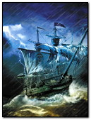 Pirate Ship In Storm