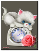 Kitten On The Clock