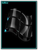 Black Windows Vista Logo