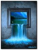 Waterfall In The Window